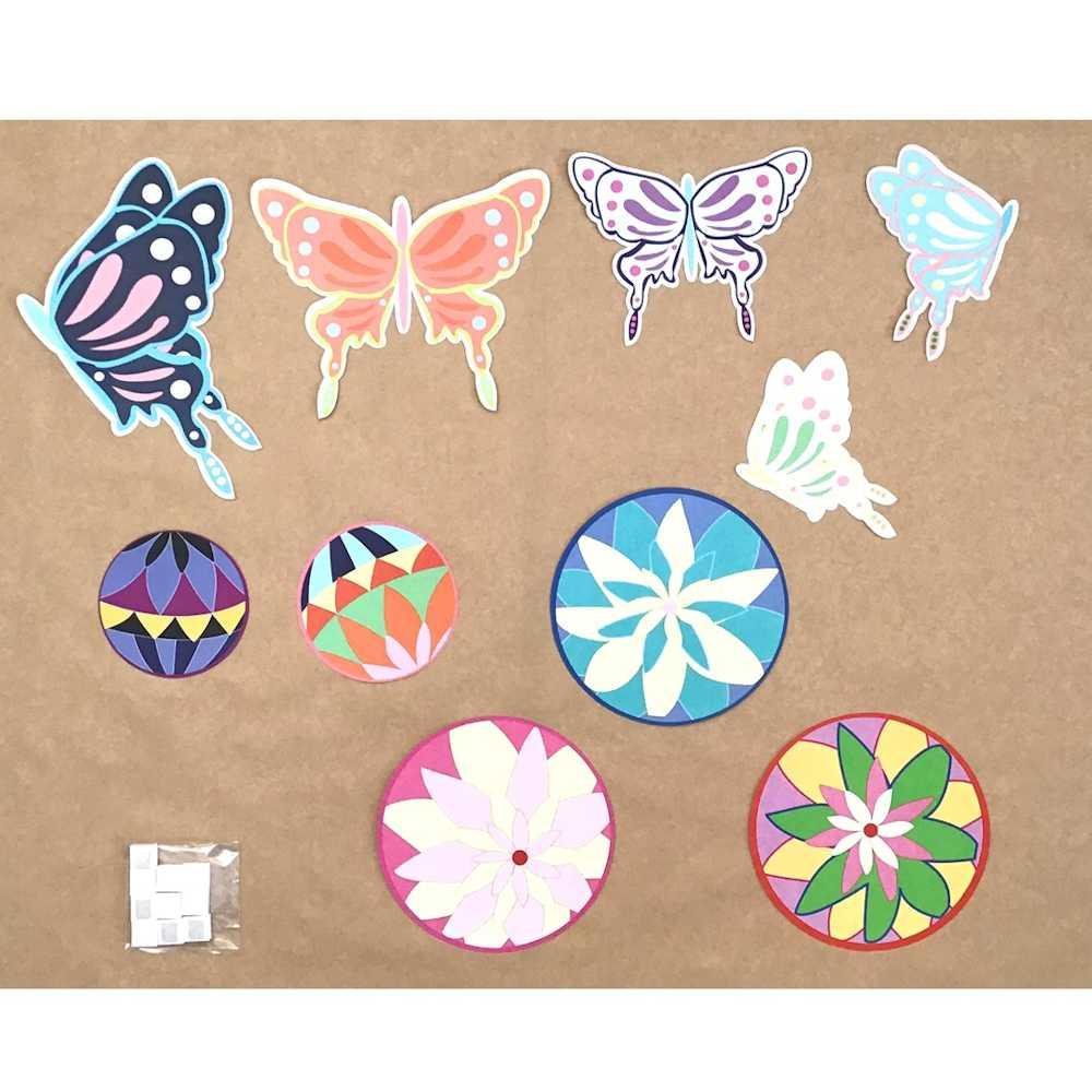 イラストシート てまりと蝶々